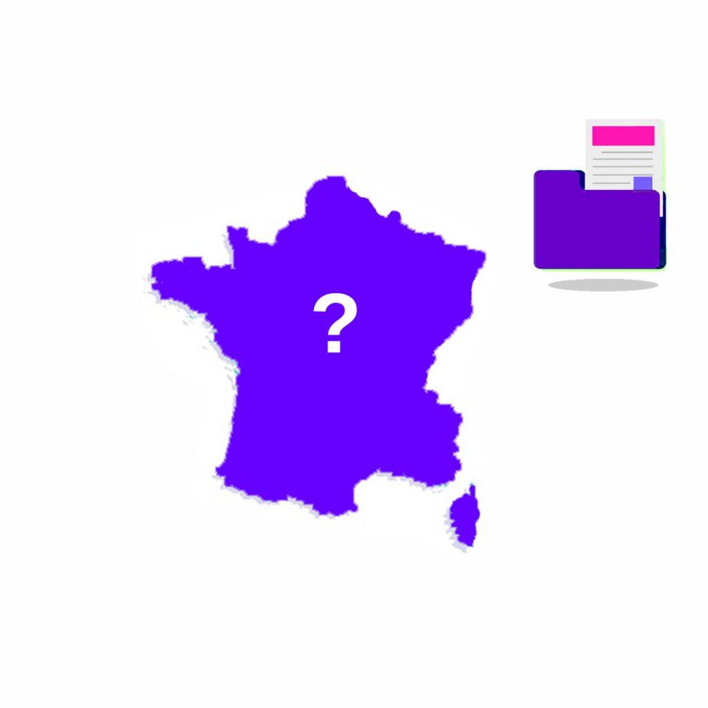 carte de la France violette administratif